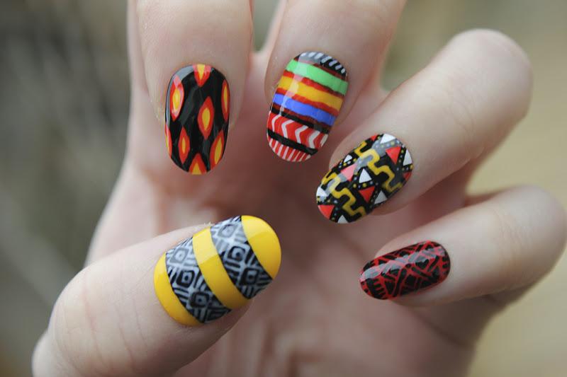 African Nail Art