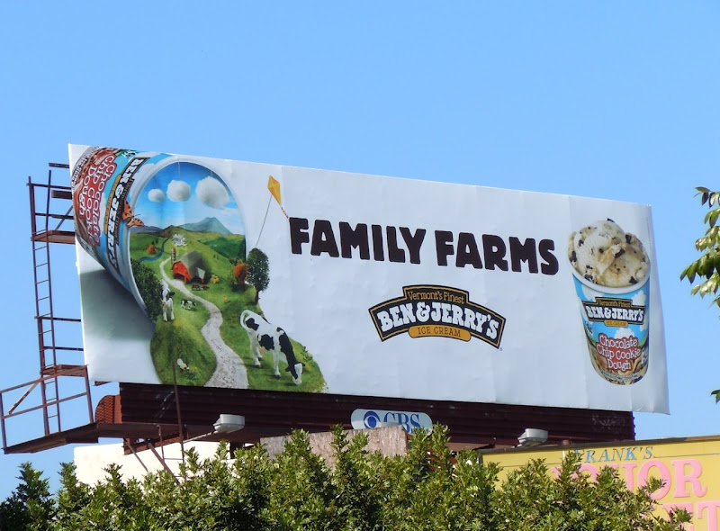 Ben and Jerry's Family Farms billboard