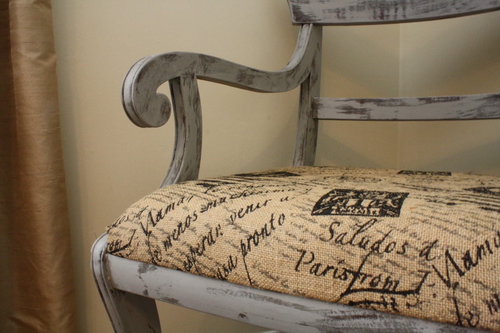 French Script Chair Coastal Charm Frenchy Chair