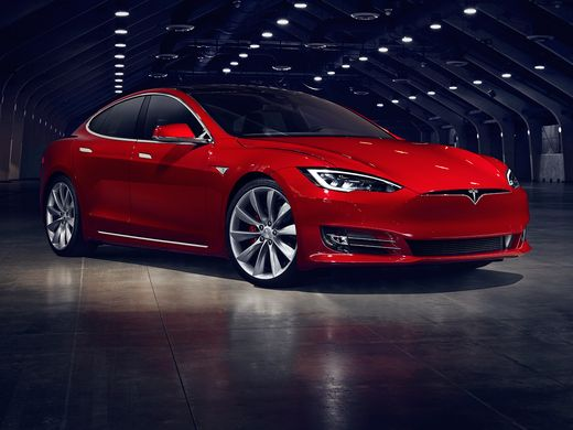 2016 New Look Model S luxury electric sedan  front view