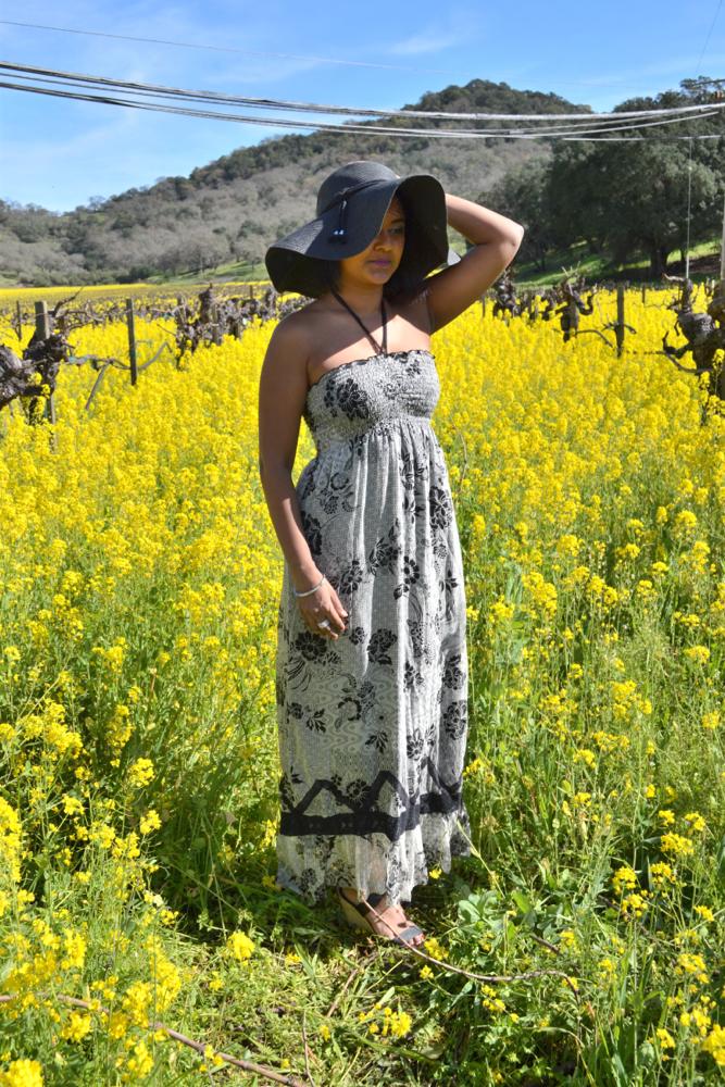 maxi dress in napa valley