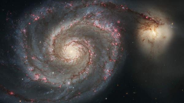 Galaxia del Remolino y Compañero