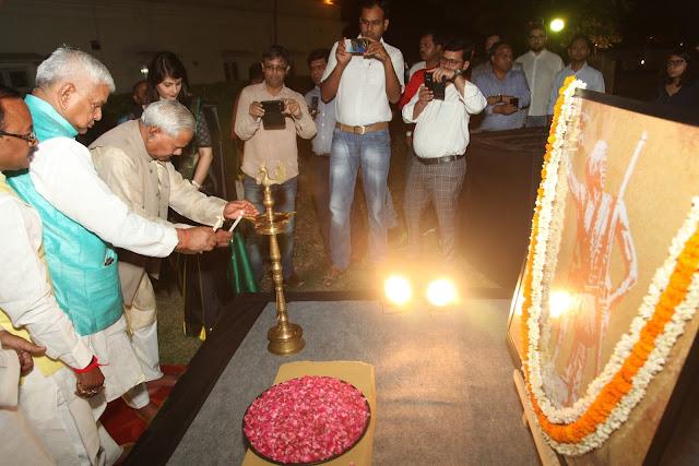 Indian politician and the former Deputy Speaker of Lok Sabha Shri Kariya Munda Innaugurating the event 117th Balidaan Diwas of legendary Tribal freedom fighter Bhagwan Birsa Munda.-
