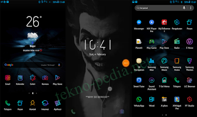 Download Samsung Theme DNA JOKER UX3 Black S8, S7, J7 Series Android Nougat
