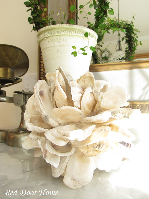 oyster shell decor door home decorating with shells an oyster shell 1360