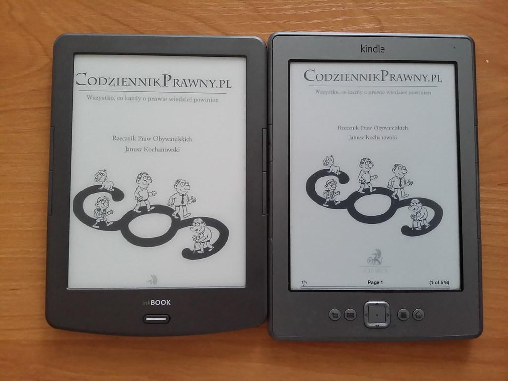 Kindle Classic i InkBOOK Classic 2 - porównanie ekranów