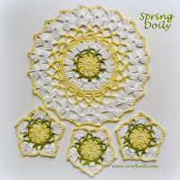 how to crochet, placemats, coasters, doilies,