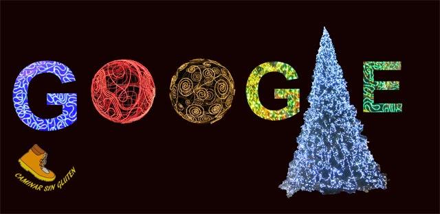 Diseño Navideño Google de Caminar Sin Gluten