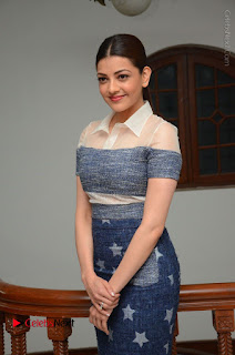 Actress Kajal Agarwal Latest Stills at Khaidi No 150 Movie Interview  0019.JPG