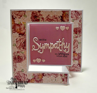 Stamp/Die Duos: With Sympathy  Custom Dies: Tri-Fold Card with Layers, Mini Cups & Mugs  Paper Collections: Romantic Roses, Shabby Pastels