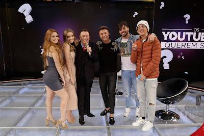 Viih Tube, Giovanna Chaves, Raul Gil, David Brazil, T3ddy e  Christian Figueiredo  (Foto: Rodrigo Belentani)