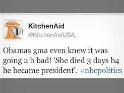 Fallo Twitter KitchenAid Obama