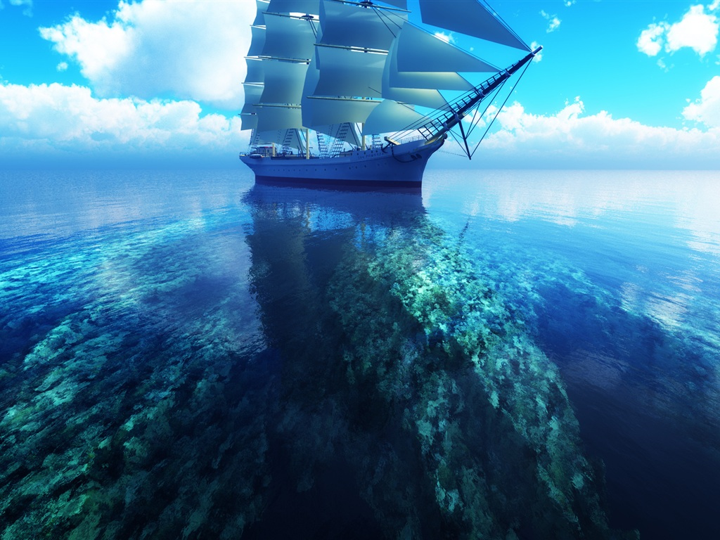3D Sea Wallpaper | Free 3D Wallpaper Download