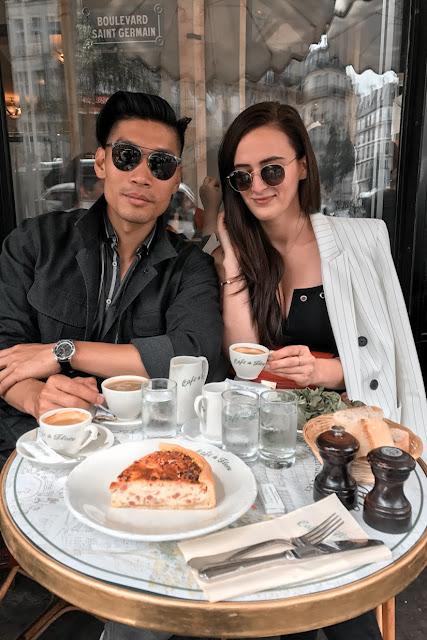Alicia Mara and Leo Chan at Café de Flore in Paris