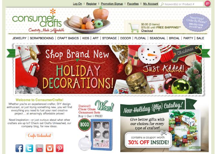 Holiday Shopping with Consumer Crafts at artsyfartsymama.com