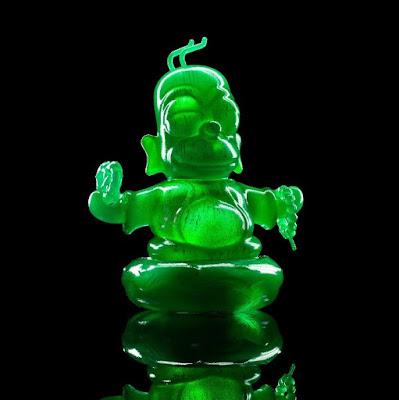 I Am Retro Exclusive The Simpsons x Kidrobot Homer Buddha Jade Edition Vinyl Figure