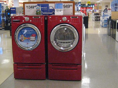 Red Washing Machine Washing Machine