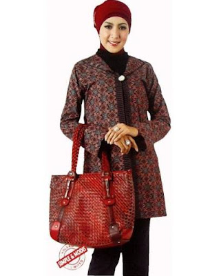 model baju batik modern hijab elegan