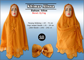Khimar syar'i jumbo model dua layer sifon polos plus bros cantik
