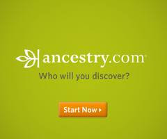 TIP #3.  Ancestry.com.  Get a 2 week free trial for this amazing site!  (Just click on logo).