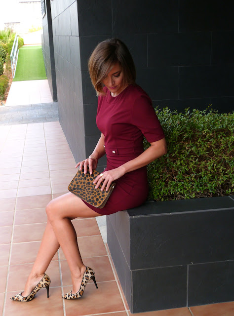 Fitness And Chicness-Burgundy Fall Dress-2