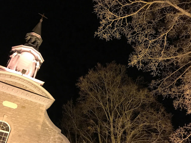 Snowy Night with Church