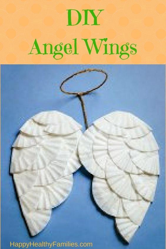 Happy Healthy Families: Last Minute Costume Help: DIY Angel Wings