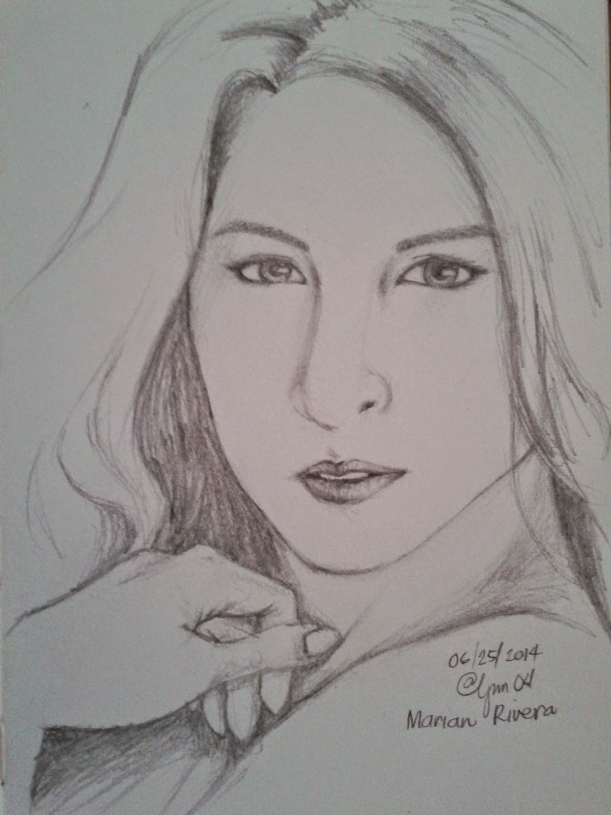 Marian Rivera (Pencil Drawing Artwork)