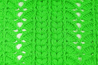 4 - Crochet Imagen Majovel crochet puntada para cobijas, mantas , jerseis y chambritas.