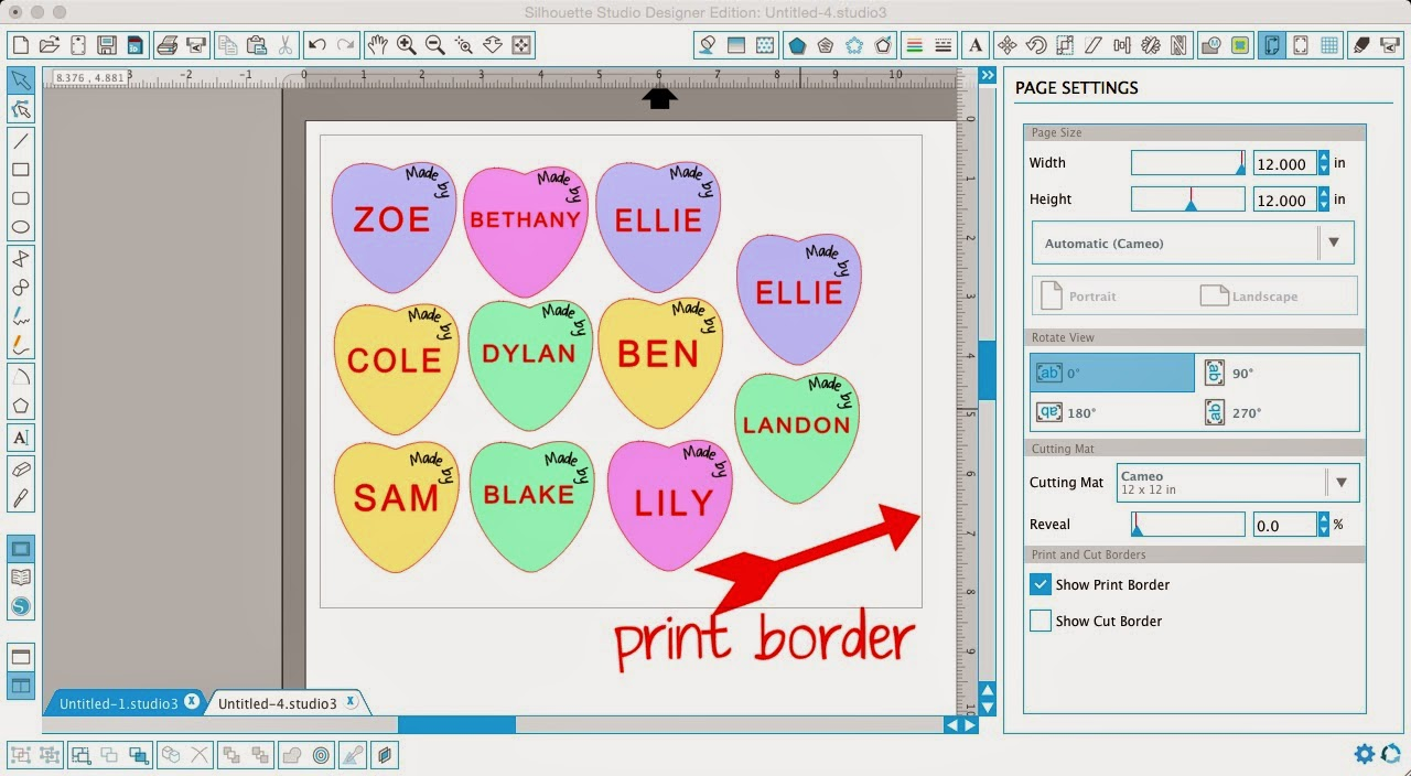 Silhouette, print and cut, 3D print and cut, magnets, print and cut ideas, print border