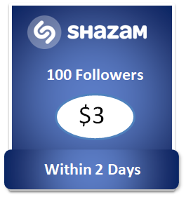 100 buy Shazam Followers Cheap