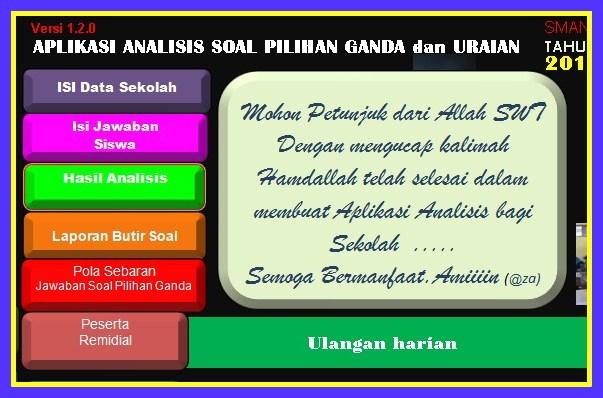 Aplikasi Analisis Soal Pilihan Ganda Kurikulum 2013 Gratis