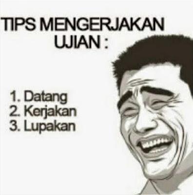 15 Meme Lucu Ujian Nasional Bikin Ngakak Geli, Pernah Ngalamin Kan?