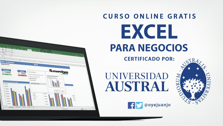 curso online gratis de excel certificado por la universidad australcurso online gratis de excel certificado por la universidad austral