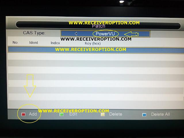 ECQLINK EI7000 HD RECEIVER POWERVU KEY OPTION