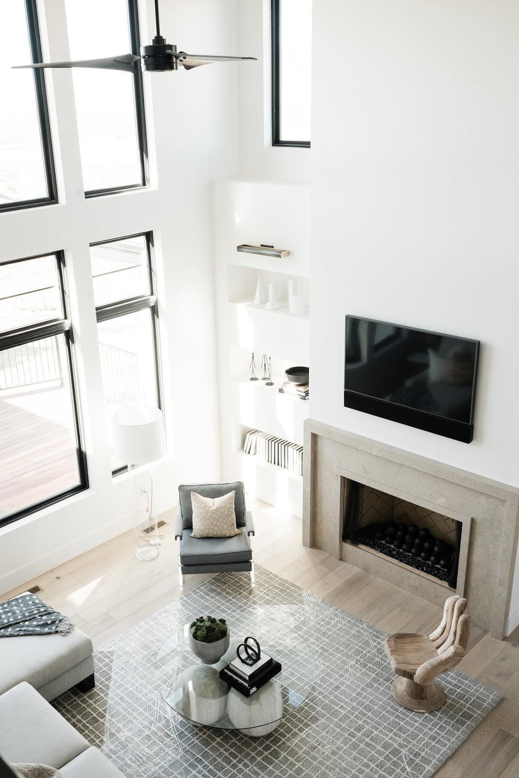 Neutral Family Room, Modern Home Ideas