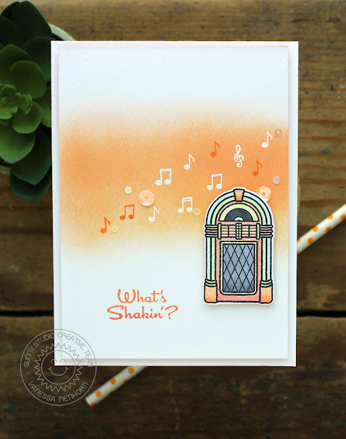 Sunny Studio Stamps: Sock Hop 1950's Retro Jukebox Card by Vanessa Menhorn.