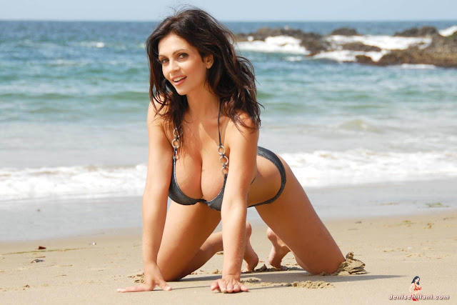 Denise-Milani-Beach-Silver-bikini-hottest-photoshoot-pics-26