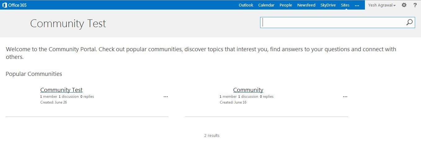 The Sharepoint Wallah: SharePoint 2013 - Community Site