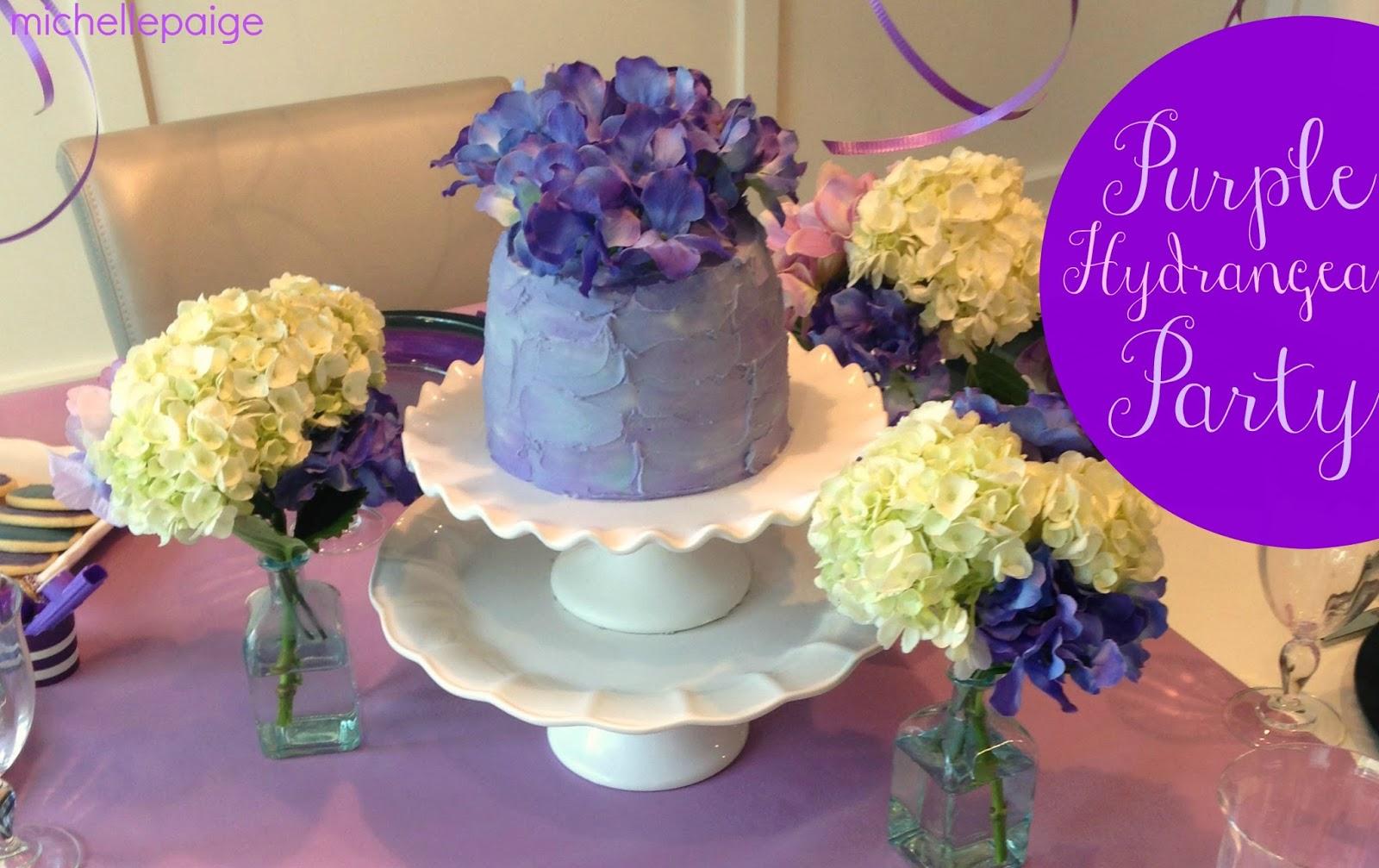 Michelle Paige Blogs Purple Hydrangea Birthday