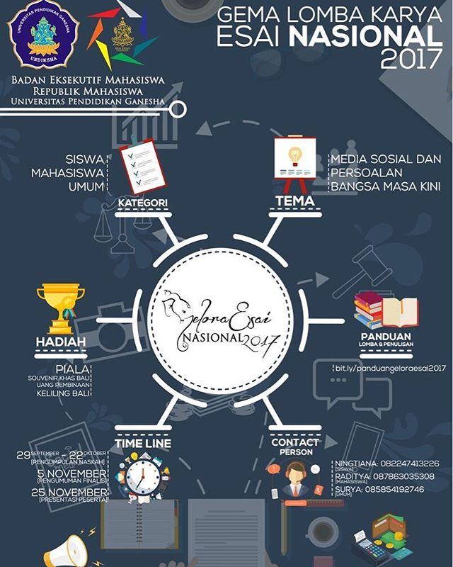 Gema Lomba Karya Esai Nasional 2017 | Univ. Pendidikan Ganesha | Umum