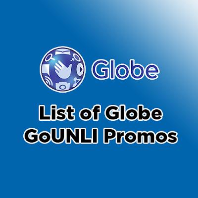 List of Globe GoUNLI Promos 2019 | PinoyTechSaga