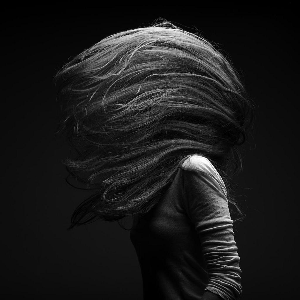 rose hair in motion by marc laroche