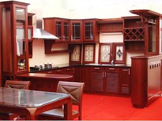 Mẫu tủ bếp gỗ xoan đào HP12 giá rẻ