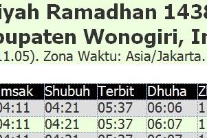 Download Jadwal Imsakiyah Ramadhan 1438 H 2017 WONOGIRI Format Doc Bisa DIEDIT