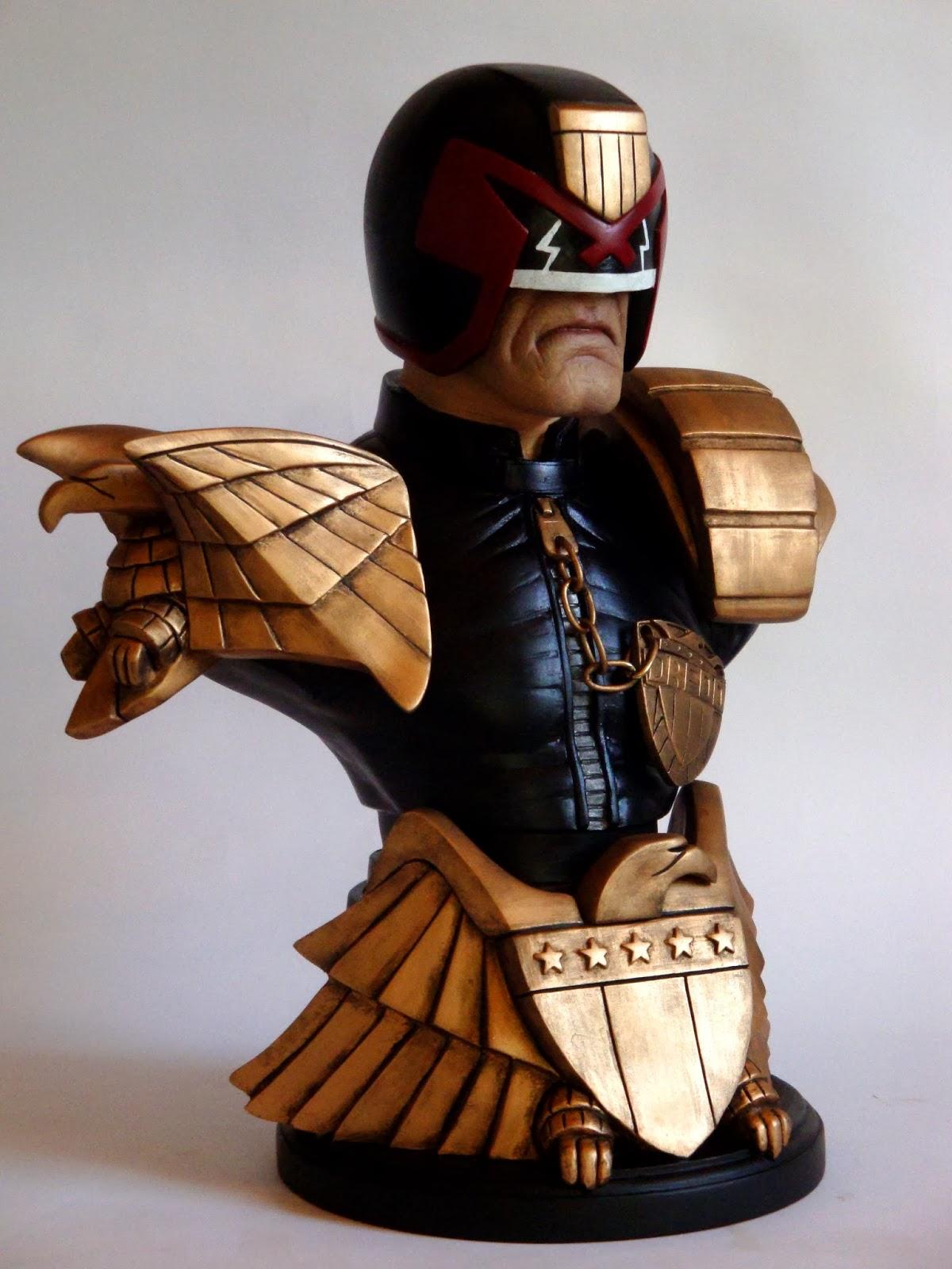 Michael White Sculpting Amp Props Judge Dredd Amp Judge Anderson 1 3 Scale Busts