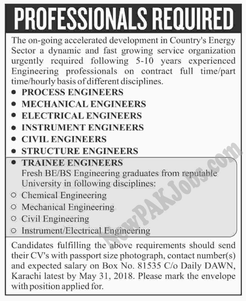 Jobs in Energy Sector Dynamic for Engineers