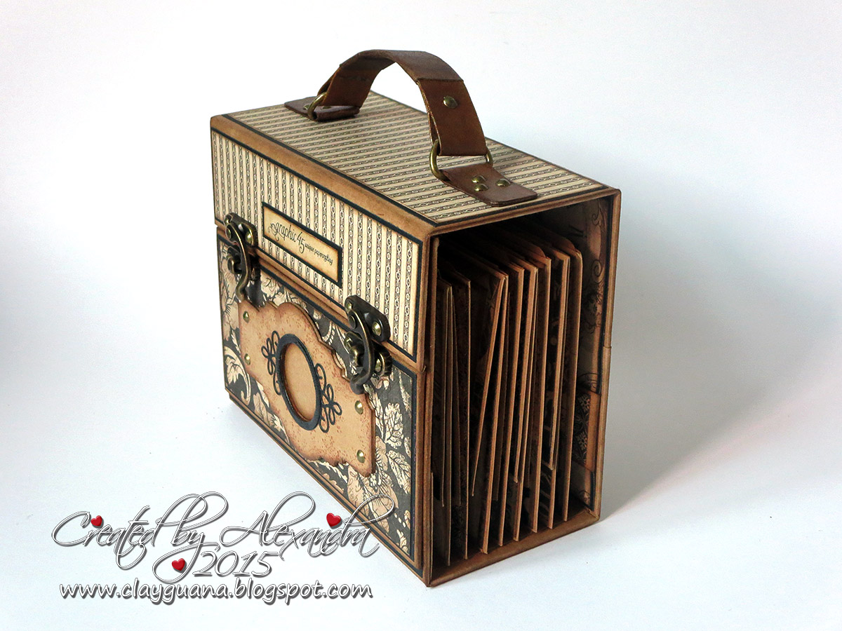 ClayGuana  Graphic 45 Craft Reflections Suitcase Vintage Style Mini Album f5062662e6b5d