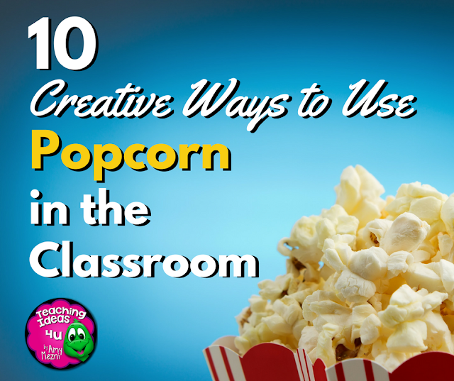 A great way to keep students engaged before a school vacation is a Popcorn-themed unit! This post discusses 10 creative ways teachers can use popcorn in the classroom.  Grades 3, 4, 5, and 6