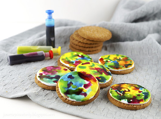 Colorful paint cookies